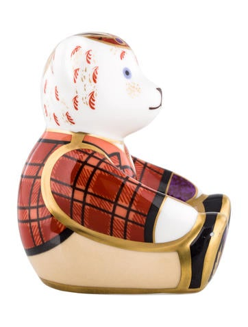 Royal Crown Derby Scottish Teddy Paperweight Decor And