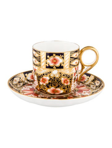 Royal Crown Derby Traditional Imari Demitasse Cup & Saucer None