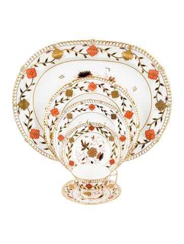 Royal Crown Derby 43-Piece Asian Rose Partial-Table Service None