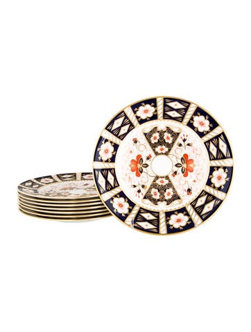 Royal Crown Derby Imari Salad Plates None