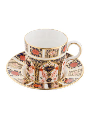 Royal Crown Derby Old Imari Demitasse Cup & Saucer None