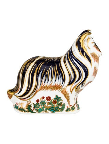 Royal Crown Derby Imari Collie Paperweight None