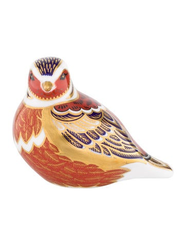 Royal Crown Derby Robin Paperweight None