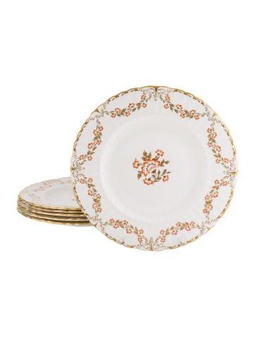 Royal Crown Derby Set of 6 Bourbonnais Dinner Plates None