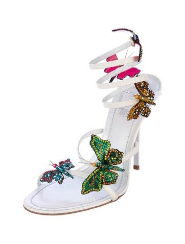 33d0df68942 René Caovilla Rene Caovilla Butterfly Sandals - Shoes - REC20060 ...