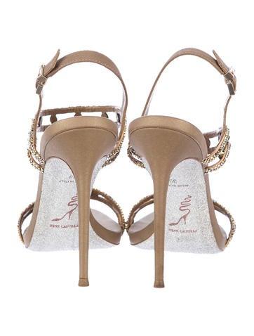 Embellished Metallic Sandals