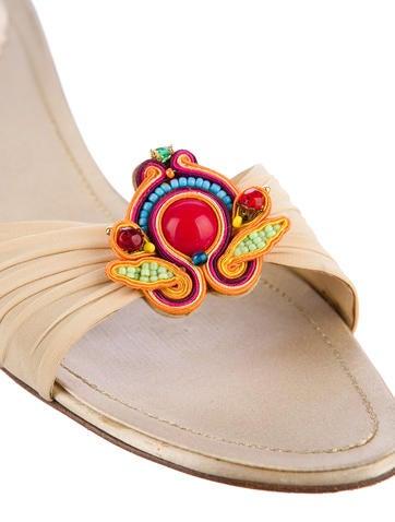 Embellished Slide Sandals