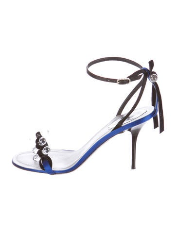 Satin Crystal Sandals