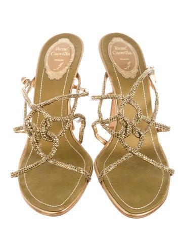 Embellished Ankle Strap Sandals