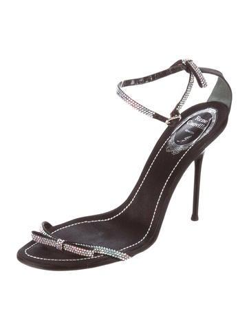 Strass-Embellished Ankle-Strap Sandals
