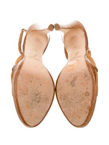 Suede Slingback Sandals