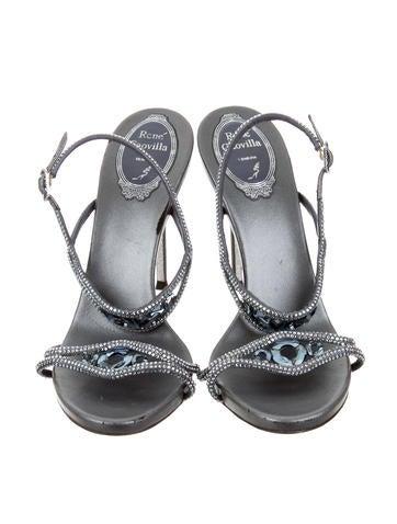 Jewel-Embellished Multistrap Sandals