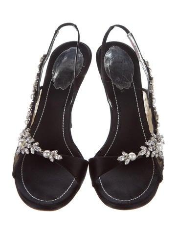 Embellished Lace Sandals