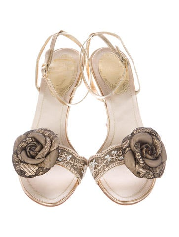Floral Embellished Sandals