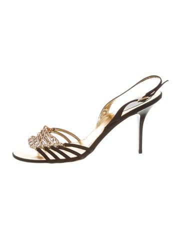 Embellished Chain-Link Sandals