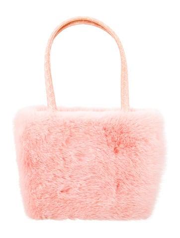 Mink & Snakeskin Handle Bag