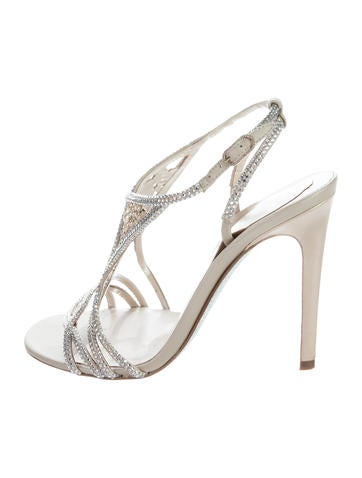 René Caovilla Crystal Multistrap Sandals free shipping cheapest price outlet get authentic top quality cheap online tavrn5