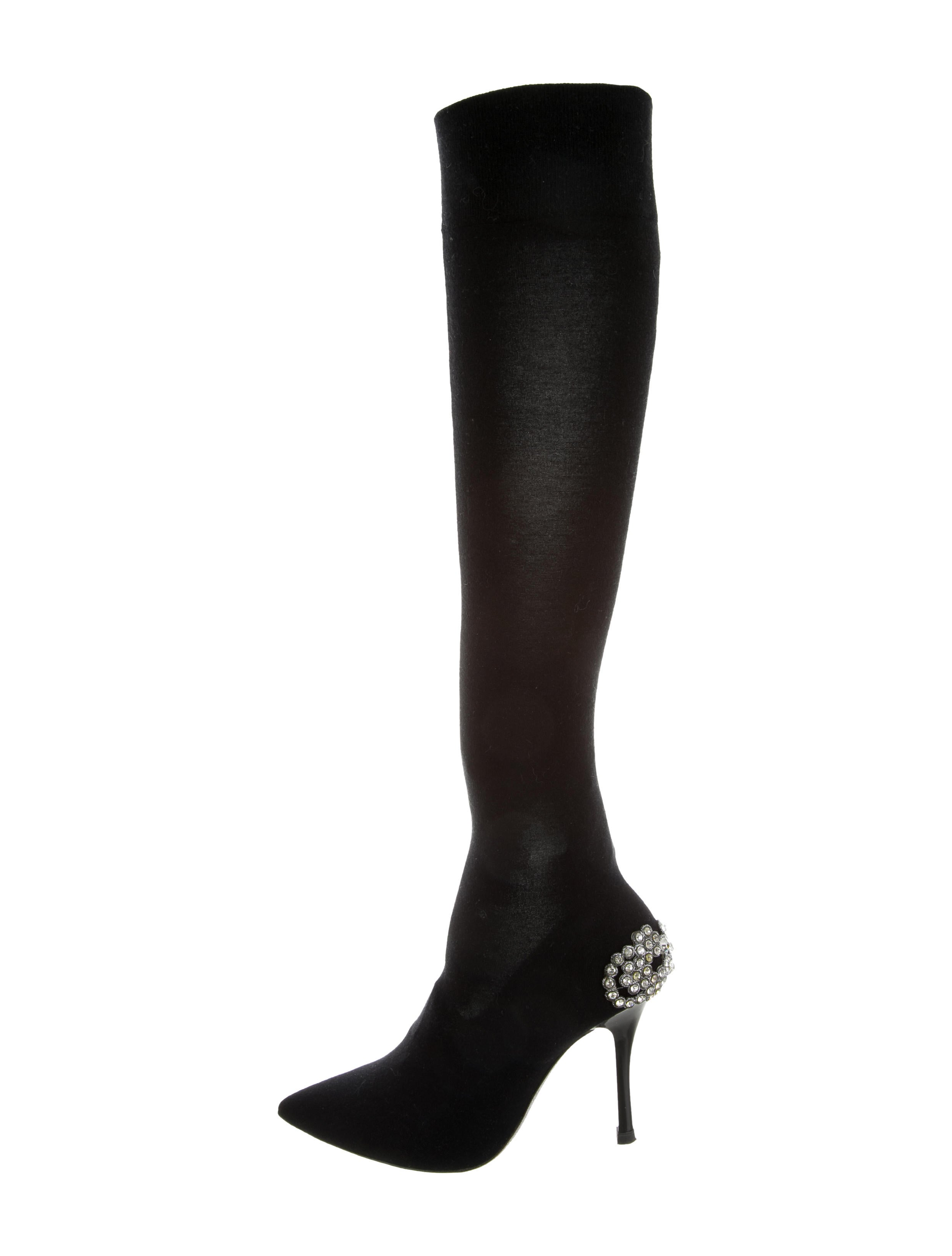 discount pick a best Cheapest sale online René Caovilla Rene Caovilla Embellished Knee-High Sock Boots discount supply low cost online ktrR8Hu