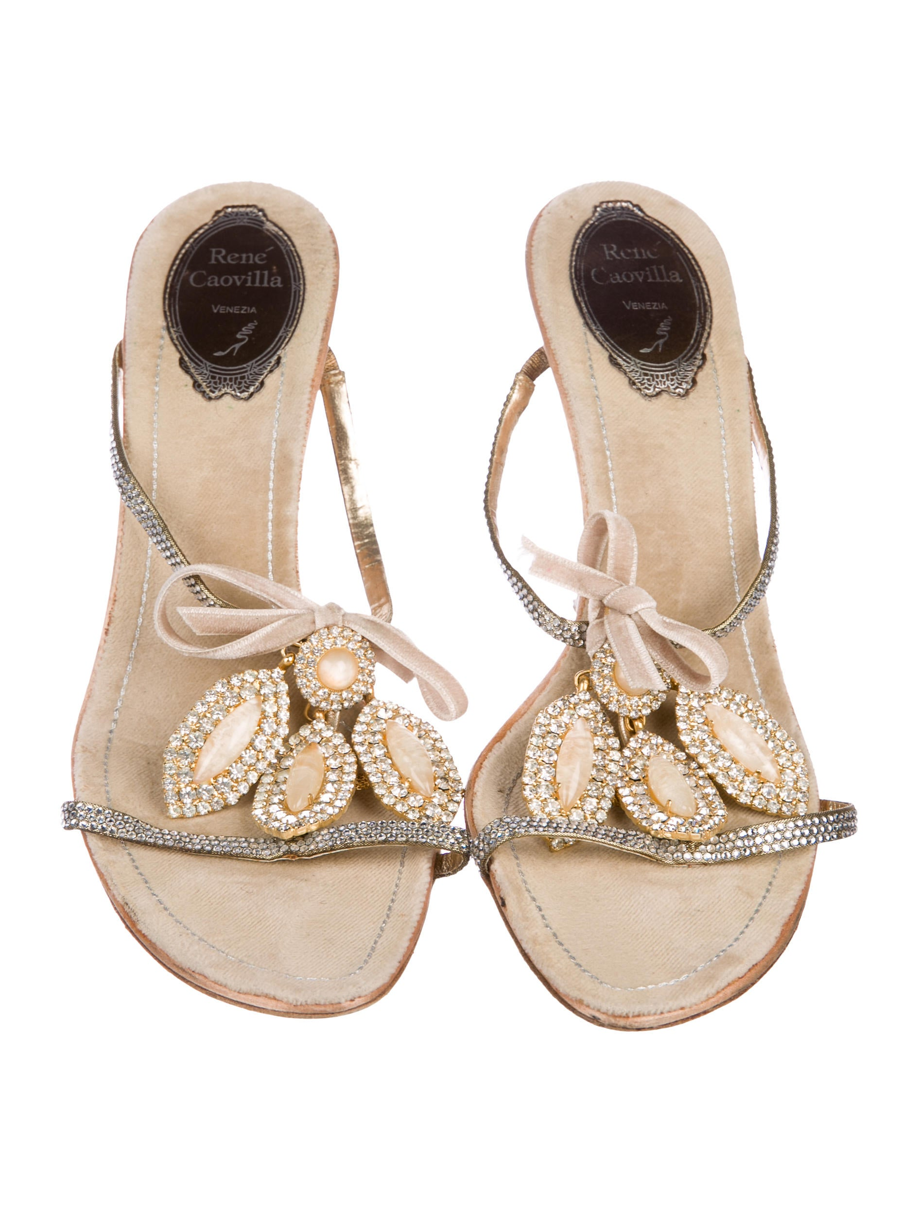 René Caovilla Rene Caovilla Embellished Bow-Adorned Sandals clearance manchester great sale 4JW54Sm