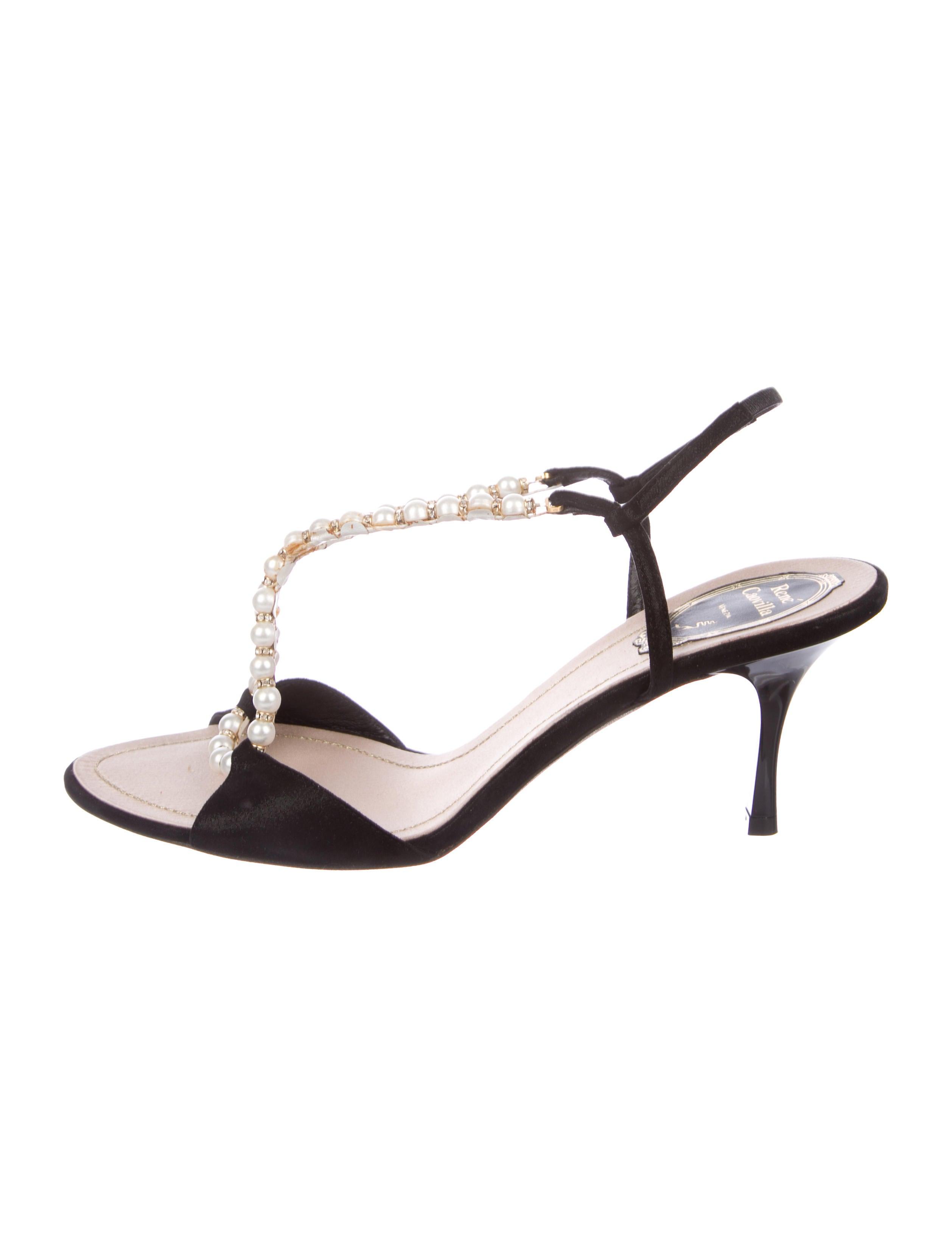 René Caovilla Rene Caovilla Embellished Slingback Sandals w/ Tags under $60 cheap price clearance Inexpensive wDmsMa