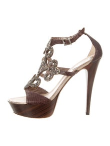 d7decfee9cb9 René Caovilla. Embellished Platform Sandals