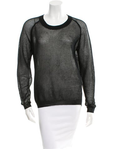 Reed Krakoff Open Knit Scoop Neck Top None