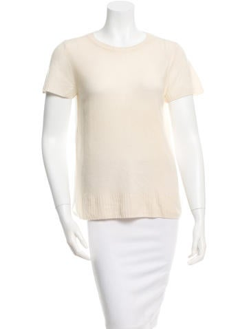 Reed Krakoff Short Sleeve Cashmere Top None
