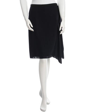 Reed Krakoff Wool Draped Skirt