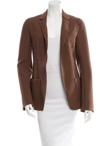 Reed Krakoff Brown Open Front Blazer