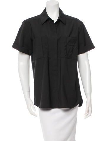 Reed Krakoff Wool Short Sleeve Top