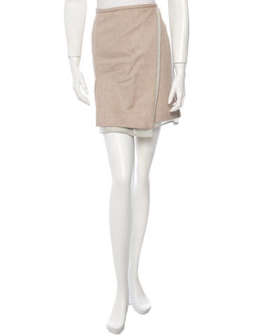 Reed Krakoff Wool & Angora-Blend Skirt w/ Tags None