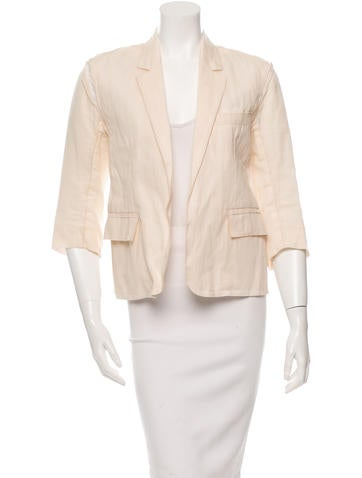 Reed Krakoff Three-Quarter Sleeve Sheer Blazer None