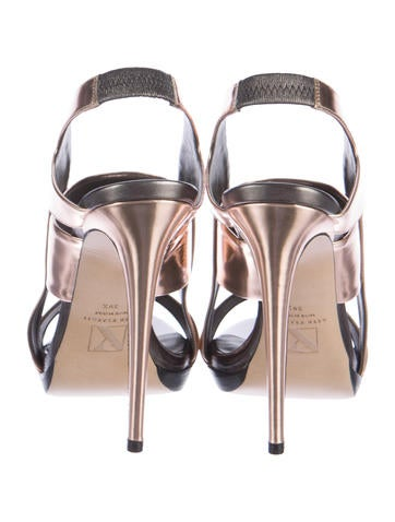 Metallic Leather Sandals w/ Tags