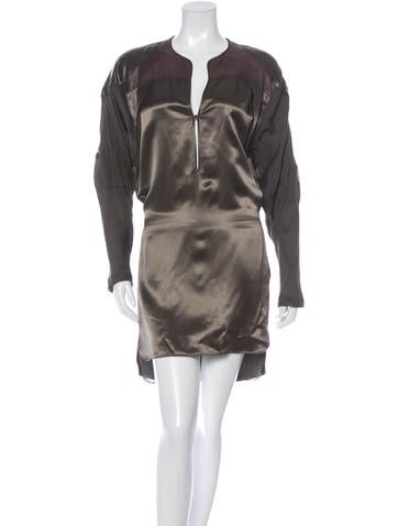 Reed Krakoff Long Sleeve Mini Dress None