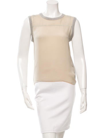 Reed Krakoff Cashmere Sleeveless Top None