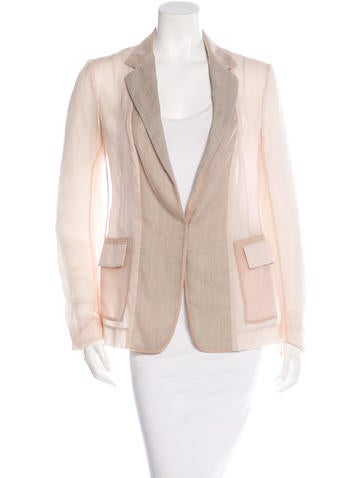Reed Krakoff Sheer Fitted Blazer None