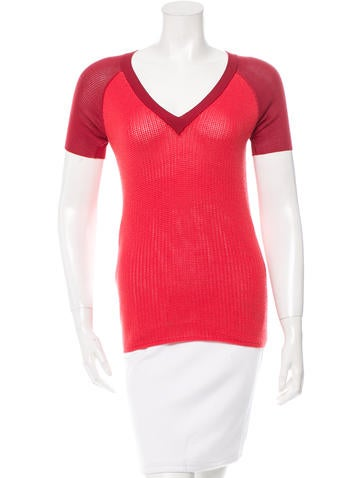Reed Krakoff Rib Knit V-Neck Top None