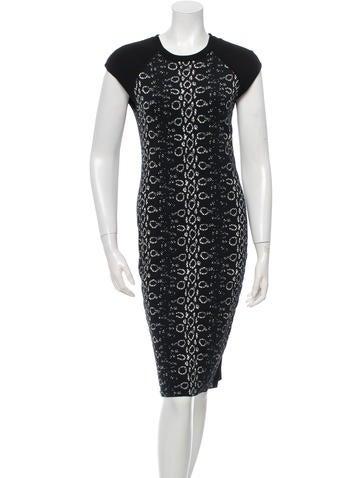 Reed Krakoff Patterned Knit Midi Dress None
