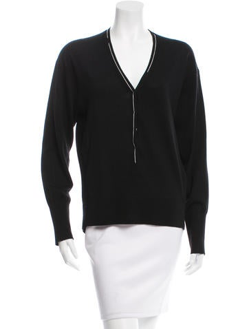 Reed Krakoff Long Sleeve V-Neck Sweater None