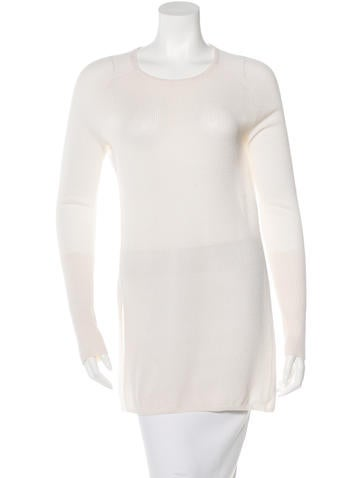 Reed Krakoff Cashmere-Blend Long Sleeve Sweater None