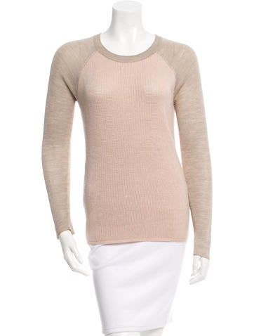 Reed Krakoff Silk-Paneled Wool Sweater None