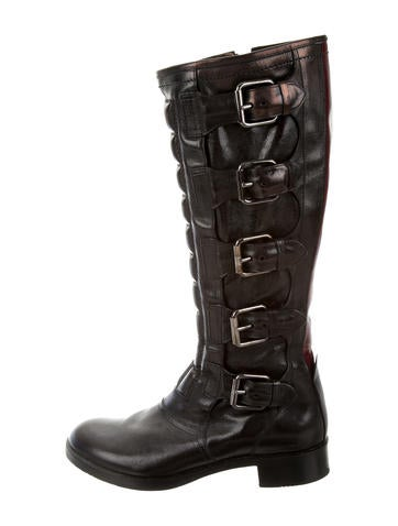 Reed Krakoff Quilted Knee-High Boots discount pay with paypal OZDY7ESf7d