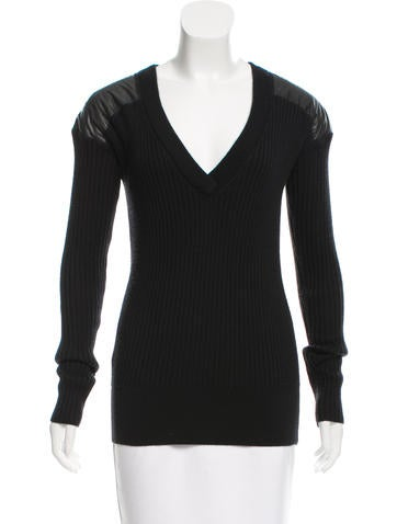 Reed Krakoff Knit V-Neck Top None