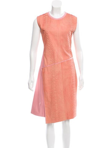 Reed Krakoff Python & Leather Dress w/ Tags