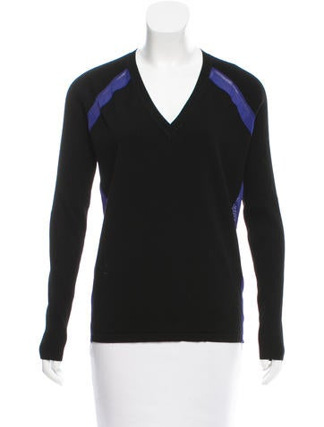 Reed Krakoff Colorblock V-Neck Sweater None