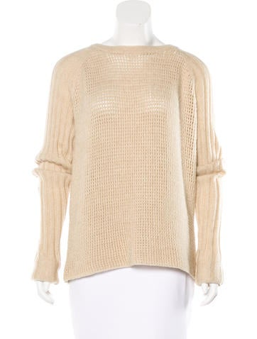 Reed Krakoff Wool & Camel Hair-Blend Sweater None