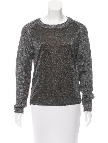 Reed Krakoff Metallic Crew Neck Sweater None