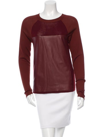 Reed Krakoff Colorblock Crew Neck Sweater None