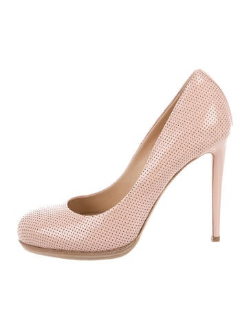 Reed Krakoff Leather Perforated Pumps None
