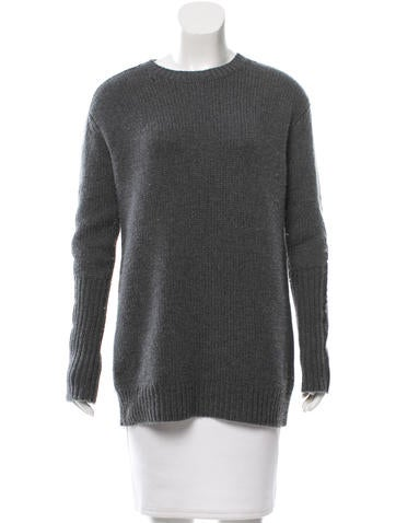 Reed Krakoff Leather-Trimmed Cashmere Sweater None